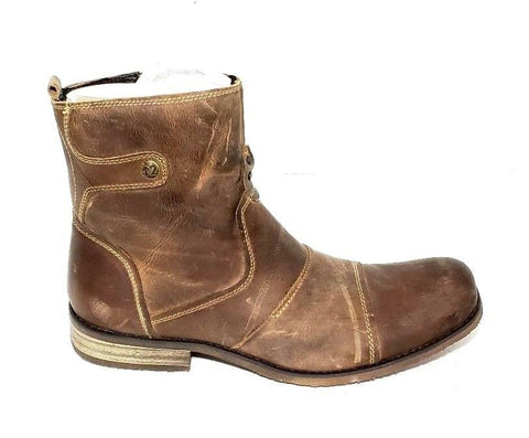 Bed Stu Burst Answer Me Toast Distressed Ankle Men Boots Size 8.5