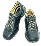 Born Mens Oxford Sneaker Black Leather Shoes Size 8.5 Pre-owned
