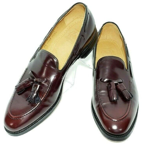 Johnston Murphy Aristocraft Cordavan Leather Tassel Men Loafers Size 9 C