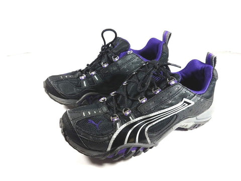 Puma Cell Sport Lifestyle Black Purple Trail Women Sneakers US Size 7