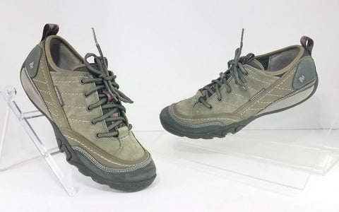 Merrell Mimosa Lace Dusty Olive Suede Women Sneakers Size 8.5