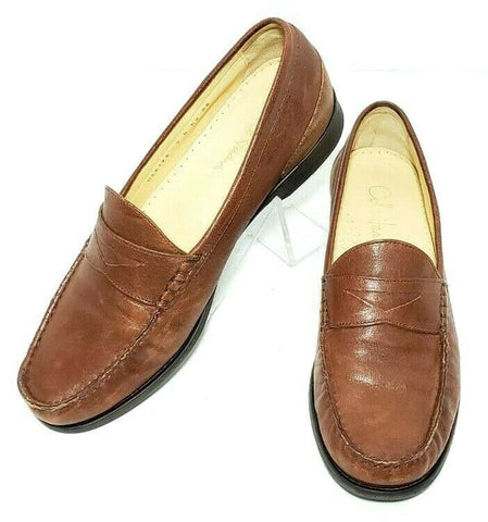 Cole Haan Brown Leather Loafers Women Fashion Casual Shoes