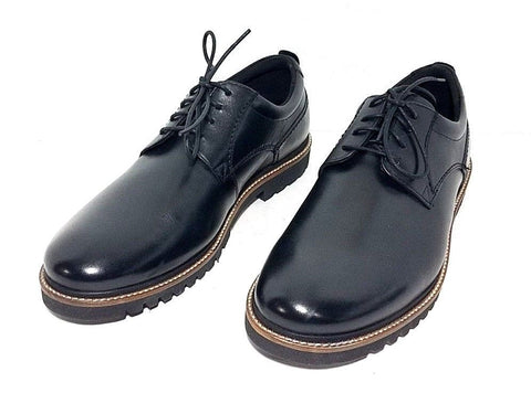 RockPort Marshall Black Leather Plain Round Toe Men Oxfords Size 9 W