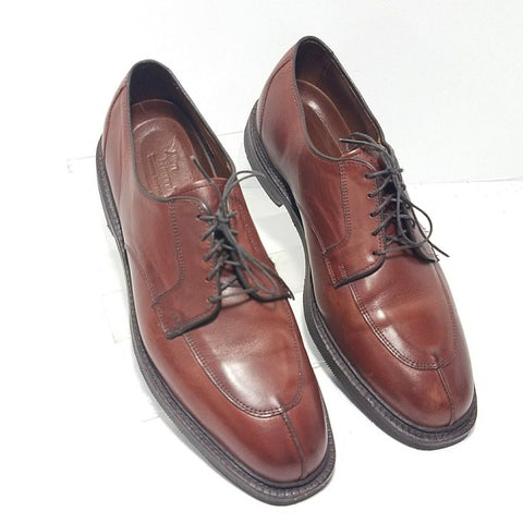 Allen Edmonds Leather Cognac Split Toe Men Oxfords Size 10.5D