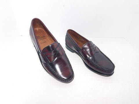 Allen Edmonds Walden 8656 Oxblood Burgundy Men Loafers Size 9 D