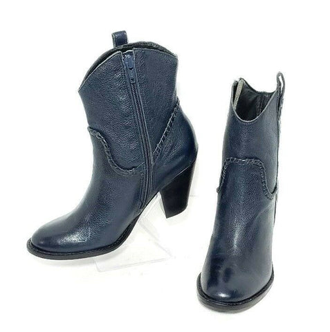 Jack Rogers Midnight Blue Leather Women Fashion Boots Size 5