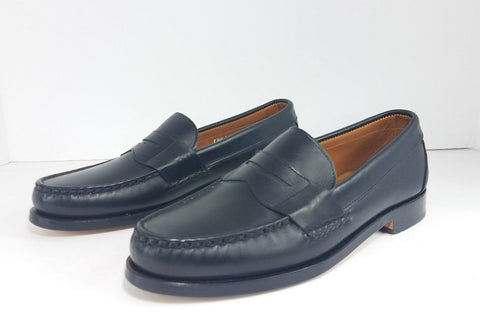 Allen Edmonds Cavanaugh Black Leather Men Loafers Size 9.5 B