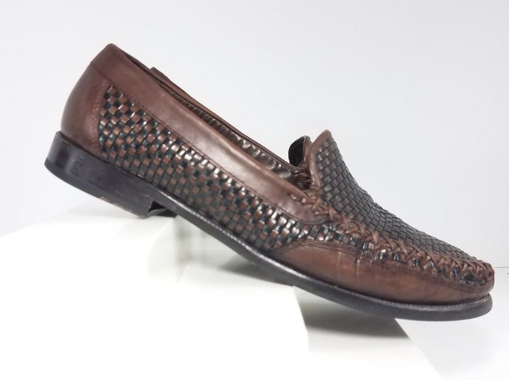 2435edec958 Cole Haan Brown Woven Leather Loafers Women Fashion Casual Shoes Size 8.5 B