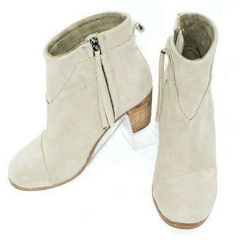 Toms Lunata Taupe Suede Women Fashion Boots Size 6