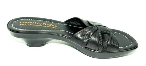 Donald J. Pliner Leather Thong Wedge Women Fashion Sandals Size 8.5