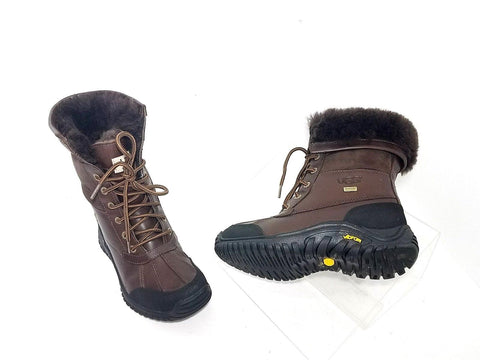 UGG Australia Adirondack II Boot 5446 Obsidian Brown Waterproof Women Fashion Boots Size 5