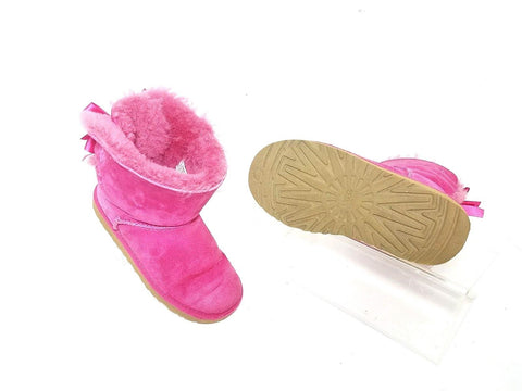 UGG Austraila Girls Short Pink Suede Children Boots Size 1 US