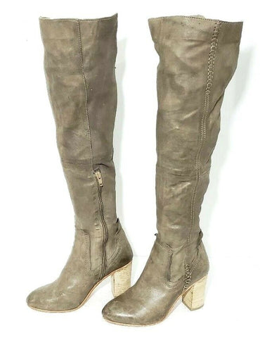 Free People Leather Over the Knee Women Fashion Boots Size EUR 36