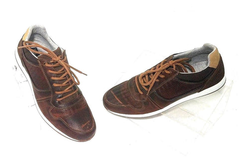 Bull Boxer Flote Brown Leather/Suede Men Casual Shoes Size US 11