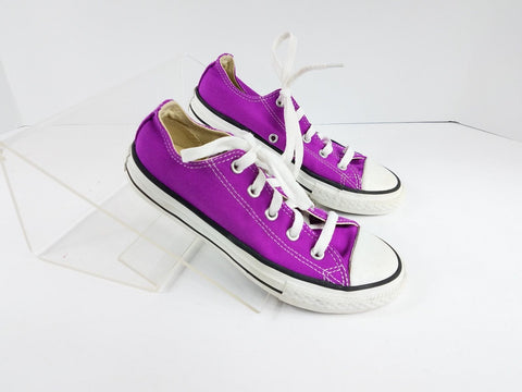 Converse Chuck Taylor All Star Low top Canvas Children Athletic/Sneakers Shoes Fuschia Girls 1Y
