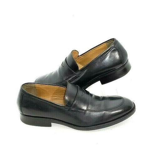 Johnston & Murphy Alcott Penny Loafer Slip On Black Men 10.5M Moccasins