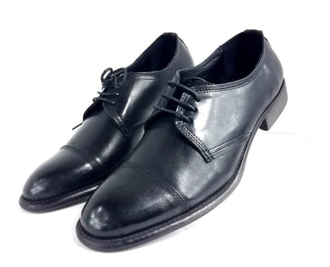 Kenneth Cole Unlisted Cole Black Leather Cap Toe Men Oxfords Size 8M