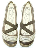 Keen Rivington Womens Mary Jane Brown Leather Flats Shoes Size 7M Excellent