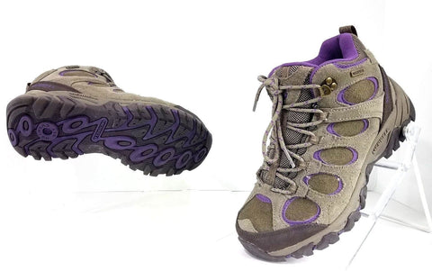 Merrells Ventilator Gray/Purple Hilltop Waterproof Hiking Women Fashion Boots Size 6.5