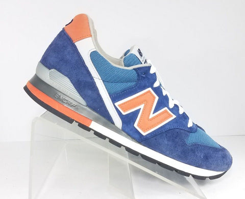 New Balance 996 Retro Suede Blue Orange M996JC1 Men Athletic Sneakers Size 9.5