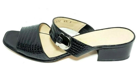 Salvatore Ferragamo Boutique Women Fashion Sandals Slip Ons Embossed Size 6.5B