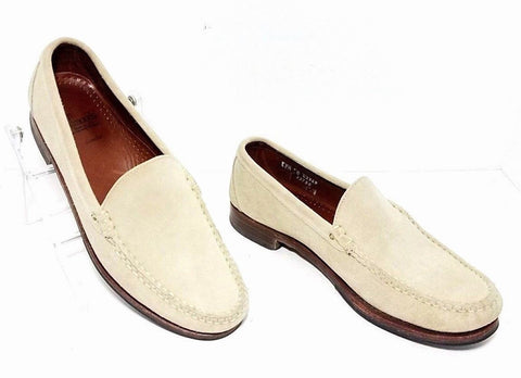 Allen Edmonds Sanibel Sand Beige Suede Leather Men Loafers Size 9.5