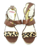 Michael Kors Leopard Print Platform Women Fashion Sandals 6M