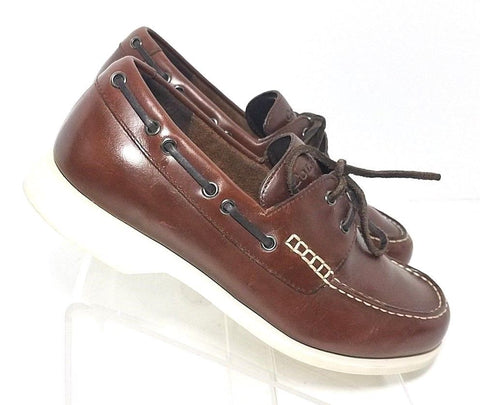 Cole Haan Resort Boat Deck Brown/Burgundy Lace-Up Men Casual Shoes Sz 9M