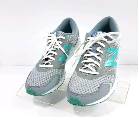 New Balance 590 V5 Speed Ride Silver/Green Running Women Sneakers Size 7.5