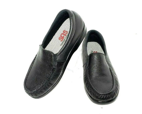 SAS Tripad Comfort Black Leather Women Fashion Casual Shoes Size 7.5 W