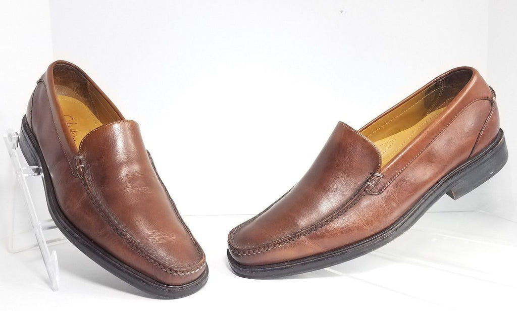 3fe59e3905 Cole Haan Nike Air Soles Brown Leather Slip On Men Loafers Size 8M ...
