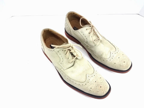 Stacy Adams Long Wing Tip Suede Oyster Men Oxfords 9 M