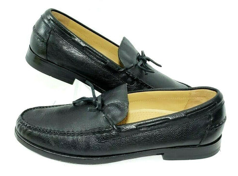 Cole Haan Men Loafers Boat Shoes Black Leather Slip On Size 10.5M