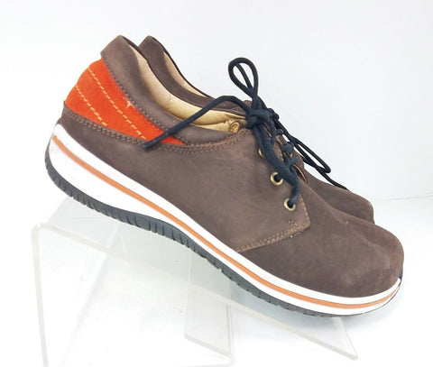 New Alegria Alex Choco Brown Orange White Lace Up Men Oxfords/Men Casual Shoes EU 41