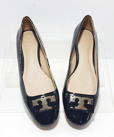 Tory Burch Black Patent Leather Women Fashion Casual Shoes Size 7M