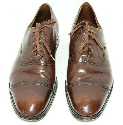 248352cca6861 Brooks Brothers English Cap Toe Brown Leather Men Oxfords 42C - 9 ...