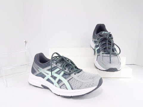 Asics Gel-Contend 4 Gray Sea Silver Running Women Sneakers Size US 7