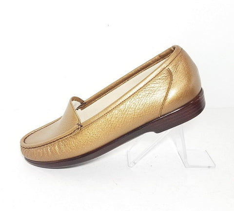 SAS Tripad Comfort Leather Loafer Bronze Metallic Women Fashion Casual Shoes Size 9.5 W