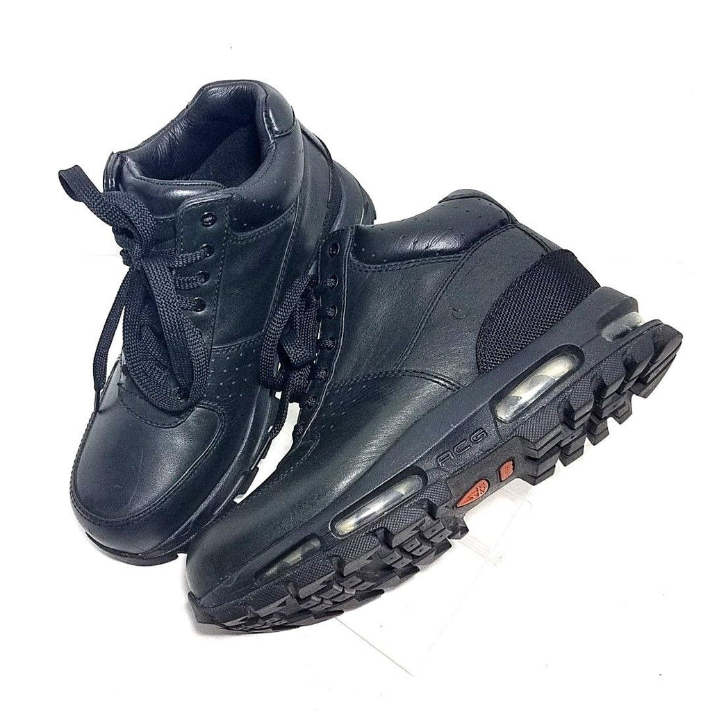 5cbcaa4b980 Nike Air Max Goadome GS ACG Black Leather Children Boots Youth Size ...