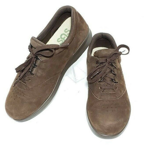 SAS Tripad Comfort Womens Size 8W Lace Up Brown Suede Walking Sneakers