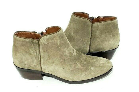 Sam Eldeman Petty Chelsea Ankle Booties Size 7M Womens Suede Olive Green