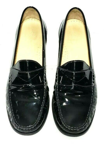 Cole Haan Black Patent Loafers Women Fashion Casual Shoes Size 9B