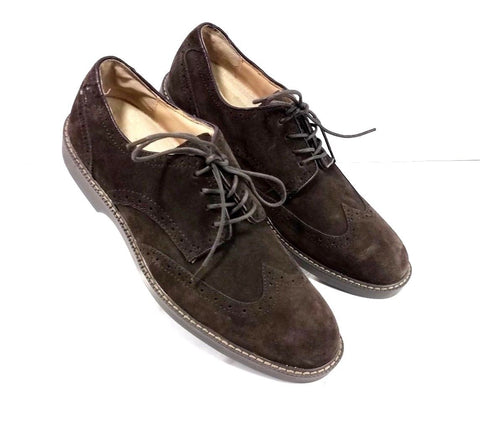 G.H. Bass & Co Walt Brown Suede Derby Wingtip Men Oxfords Size 10 D