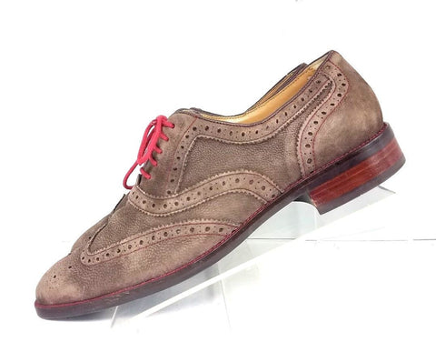 Cole Haan Grand OS Brown Suede/Leather Wingtip Men Oxfords Size 10