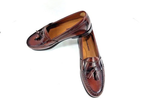 Johnston & Murphy Cordovan Tassel Loafers Round Toe Men Loafers Size 10.5M