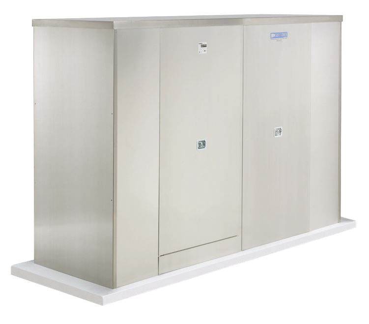 Backflow Enclosure - 1000S-AL - 4 Doors - Safe-T-Cover