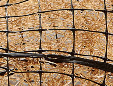Landlok 450 turf reinforcement mat has dense polypropylene fibers