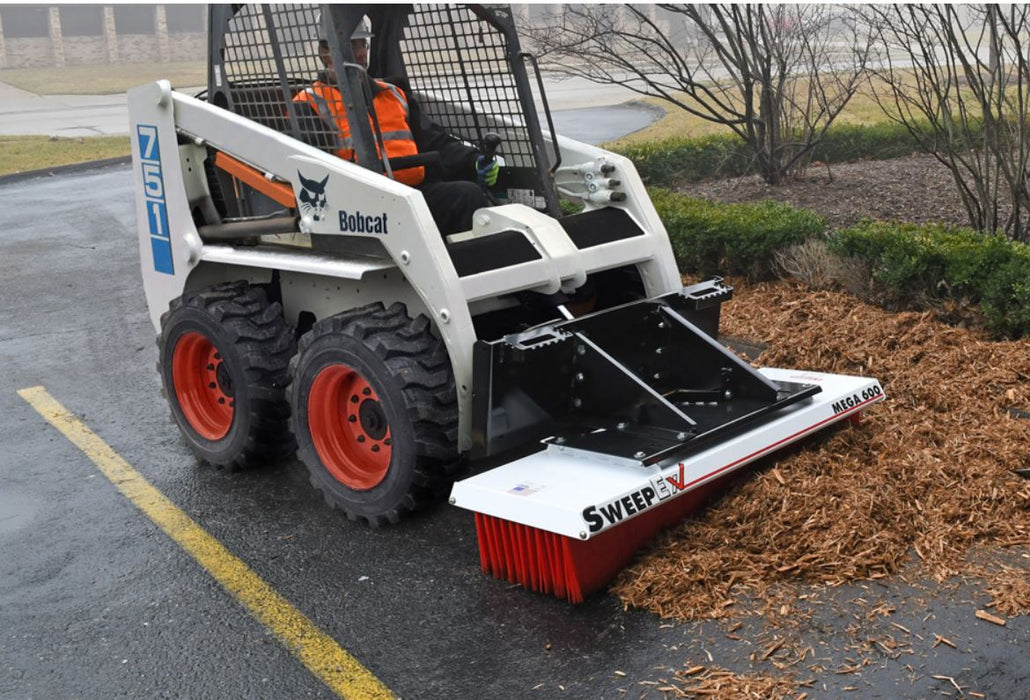 "Forklift Broom Sweeper 60"" - SweepEx Mega Series - SMB-600"