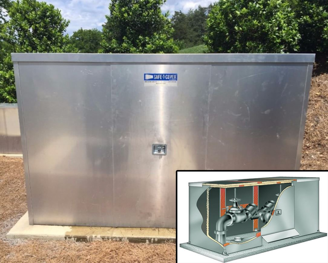 Backflow Preventers are Easily Accessible in our Enclosures