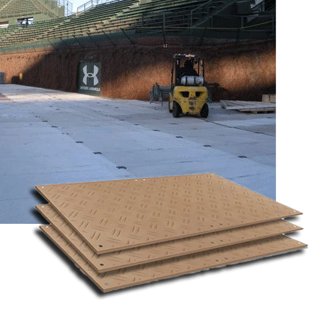 Ground Protection Mats being used for an event space